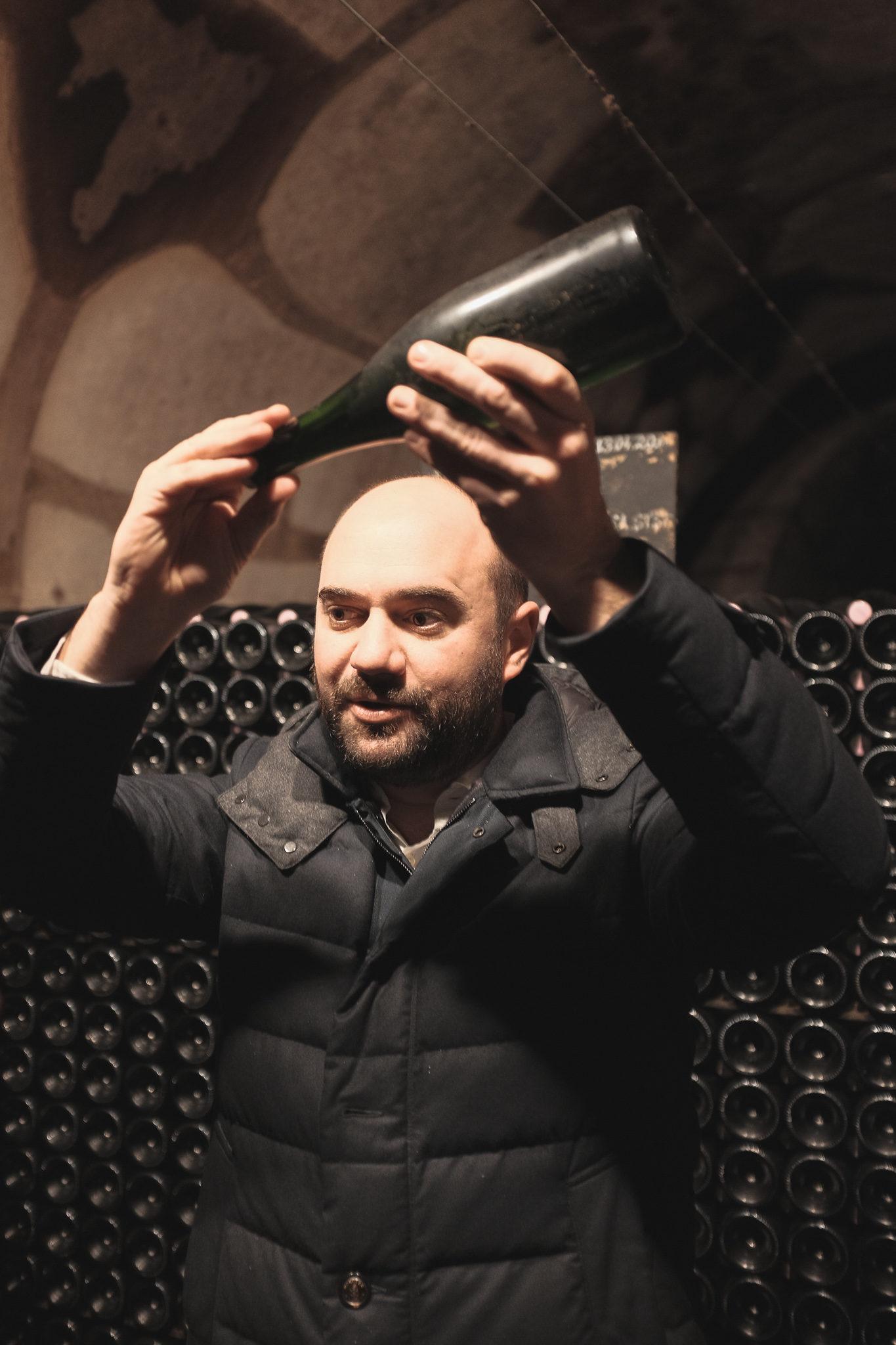 Dépôt Bouteille Champagne Cave à Vin Pol Roger