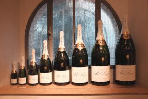 Nom taille des bouteilles de Champagne