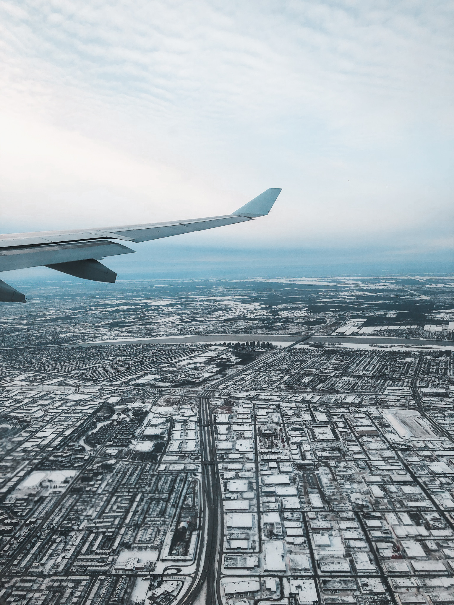 Montreal Hiver Neige Avion