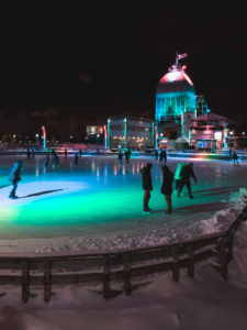 Patinoire Montreal Nuit
